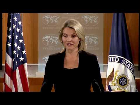 State Department Press Briefing with Spokesperson Heather Nauert