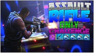 FORTNITE BATTLE ROYALE | ASSAULT RIFLE ONLY CHALLENGE!! ~ WITH 10+ SHIELDS!!