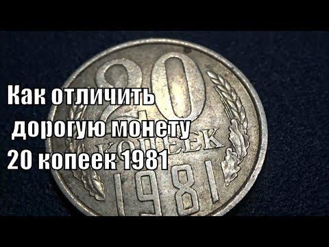Как распознать дорогую монету 20 копеек 1981 года