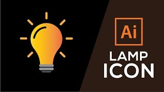 How to Create Lamp Icon in Illustrator CC 2015/2017