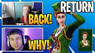 "Streamers React To *RARE* ""SARGENT GREEN CLOVER"" SKIN COMING BACK To Fortnite (RIP)"