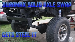 DURAMAX SOLID AXLE SWAP GETS STEEL IT Cougar House Garage Ep386