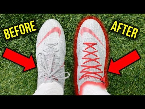b269f886ae81 LACING TIP - CLEANEST WAY TO TIE YOUR FOOTBALL BOOTS!  HIDDEN KNOT ...