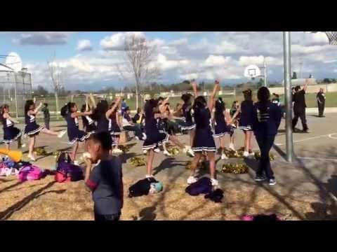 Megan & Katelyn cheerleading-Bakman