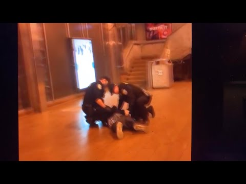BART Police Officers Subdue Knife-Wielding Man At Oakland Coliseum BART Station