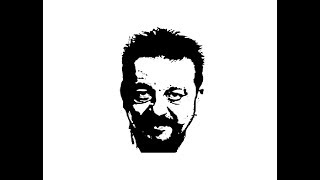 How to Draw Sanjay Dutt face pencil drawing step by step