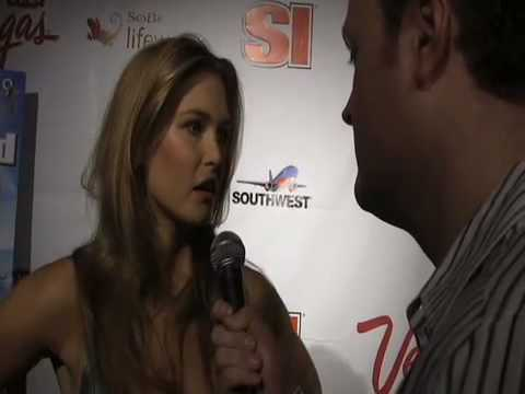 Bar Rafaeli with Brad Blanks  SI Swimsuit Party 2009