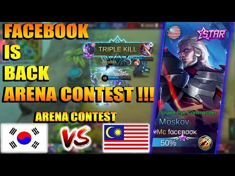 FACEBOOK IS BACK !!! AWALNYA DI BULLY DI LATE GAME !!! MALAYSIA VS KOREA - ARENA CONTEST