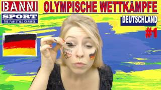 DEUTSCHLAND - Germany #1 - Olympic Wettkampf - Original Banni Sport Fan Style & Make-up