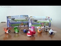 Super Wings Mini Transform-a-Bots Toys Unboxing Jett Donnie Dizzy Mira Jerome Bello