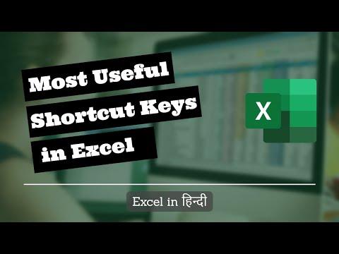 150+ Excel Shortcut keys in Hindi for Windows | Excel Shortcuts