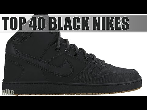 Top 40 All Black Nike Shoes