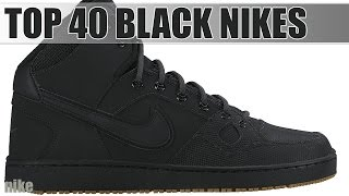 Top 40 All Black Nike Shoes - YouTube