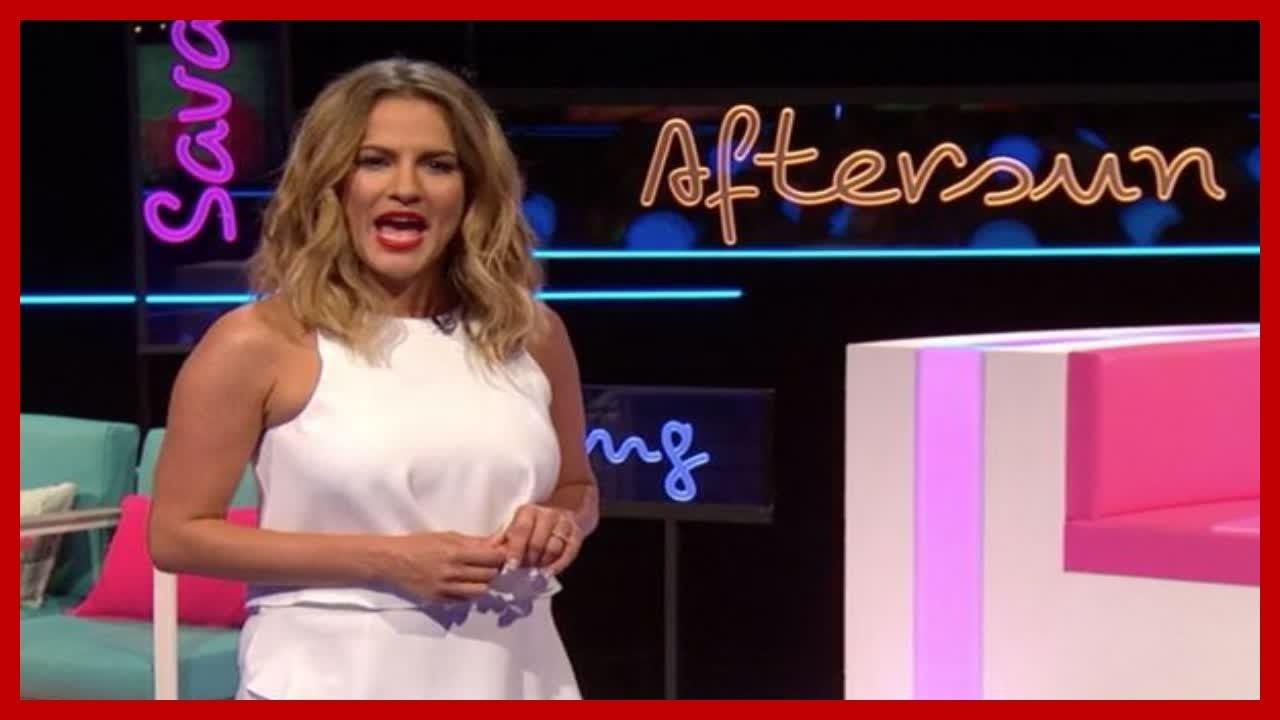e17231980a Caroline Flack outfit  Aftersun host s floaty white playsuit leaves ITV2  viewers all asking where