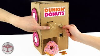 How To Make A Dunkin' Donuts Vending Machine From Cardboard