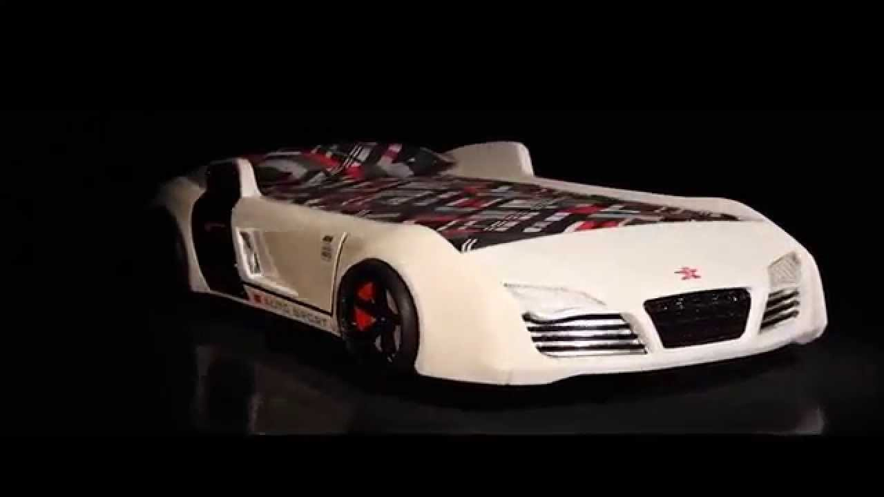 Kinderbett auto weiss  byMM Autobett Turbo V8 in weiss. Das Original ! - YouTube