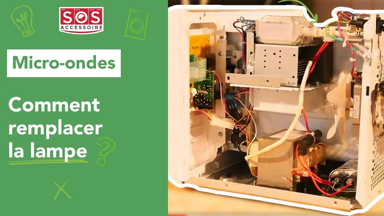 comment remplacer la lampe d 39 un micro ondes youtube. Black Bedroom Furniture Sets. Home Design Ideas