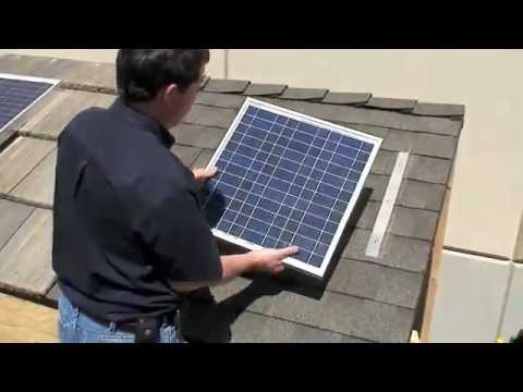Diy solar panel install shingle roof free power high powered solar diy solar panel install shingle roof free power high powered solar system solutioingenieria