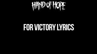 Gambar cover Hand Of Hope - For Victory Lyrics
