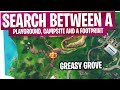 Search between a Playground, Campsite, and a Footprint - FAST & EASY - Fortnite S4 Week 6 Challenge