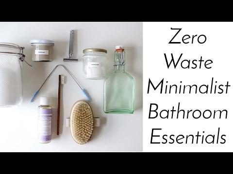 ZERO WASTE MINIMALIST BATHROOM ESSENTIALS   Home Made + Shop Bought