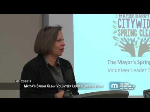 03/02/17 'Mayor's Spring Clean' Volunteer Leader Training Event