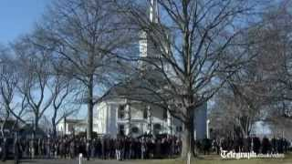 Connecticut school shooting: funeral held for teacher Victoria Soto