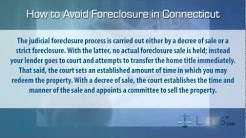 How to stop foreclosure in Connecticut