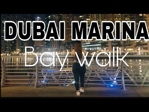 DUBAI MARINA BAY WALK 2020 AT NIGHT  MARINA MALL  BEAUTIFUL PLACE