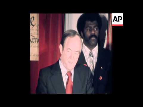 SYND 11-1-72 HUBERT HUMPHREY DECLARES CANDIDACY FOR DEMOCRATIC NOMINATION FOR PRESIDENT