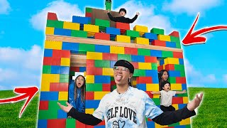 I Built A GIANT Lego House!! **LIFE SIZE**