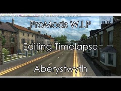 [ProMods W I P] ETS2 Map Editor Timelapse - Aberystwyth