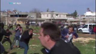 Kilis'te roketin düşme anı kamerada