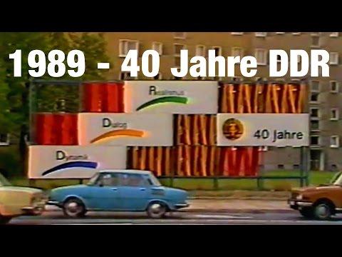 FLASHBACK 1989 - 40 Jahre DDR Feier - Celebrations 40 years GDR - Honecker & Gorbatschow