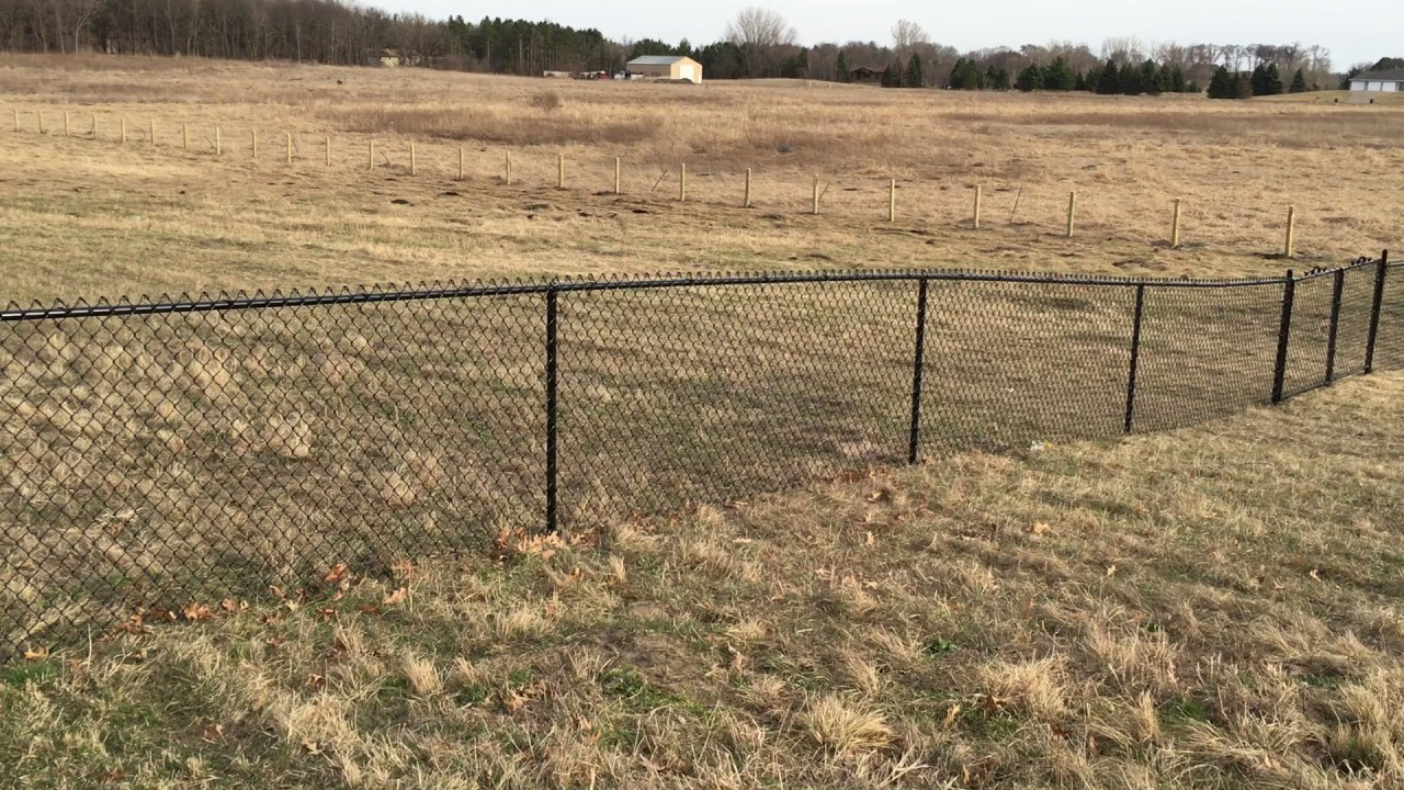 Farm Fencing w/ Galvanized Welded Wire, Chain Link, & 4 Gates - YouTube