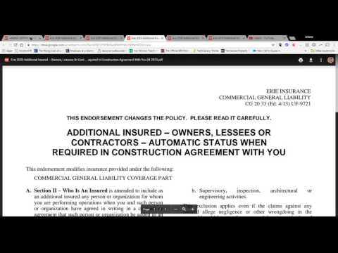 Additional Insured Status- Detailed Explanation