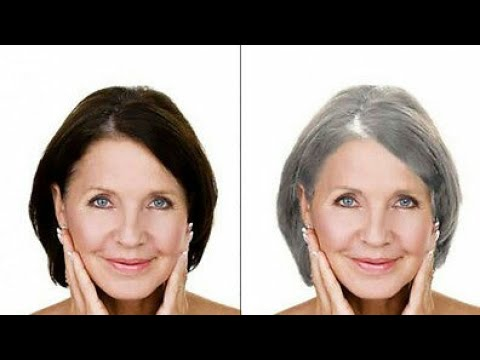 Get Rid Of Gray Hair Naturally Stop Prevent And Cover Grey Hair Turn Gray Into Shiny Black Hair