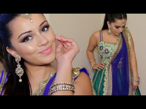 Bright Diwali Indian Makeup Tutorial 2015   Kaushal Beauty