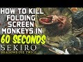SEKIRO BOSS GUIDES - How To Easily Kill The Folding Screen Monkeys In 60 Seconds!