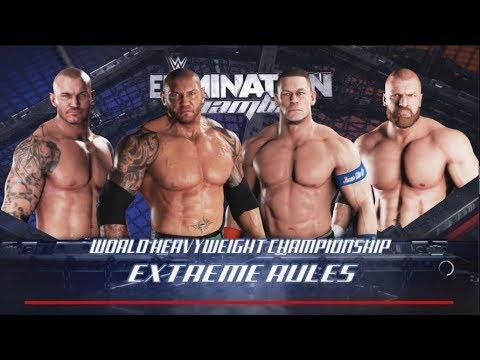 WWE-2K18-Batista vs Triple H vs Randy Orton vs John Cena ...  WWE-2K18-Batist...