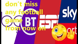 WATCH ALL FOOTBALL GAMES WITH THE BEST WEBSITES LIVE HD AND FOR FREE