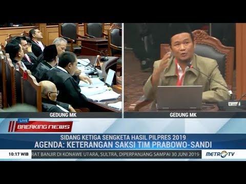 Kesaksian Kontroversial, Agus Maksum Dicecar Tim Jokowi, KPU, dan Bawaslu (Sidang ke-III MK)