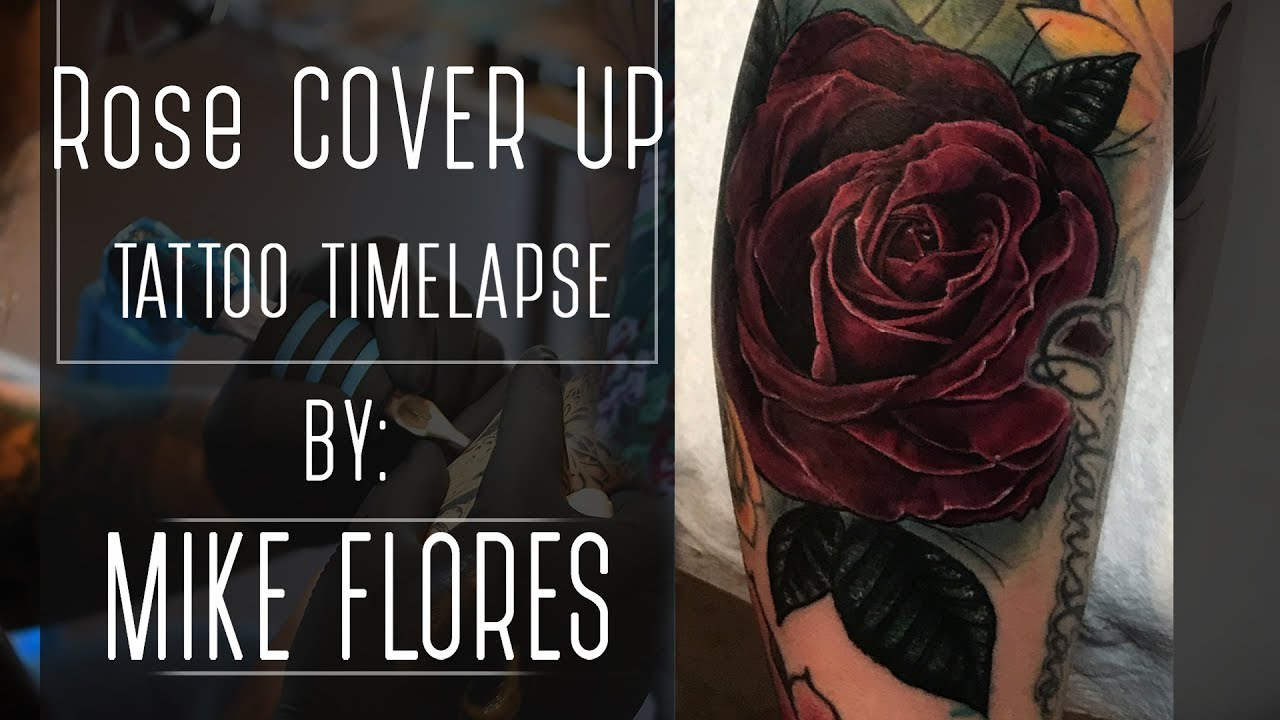 45a4f41f3 Cover Up Tattoo Time lapse - Mike Flores - YouTube