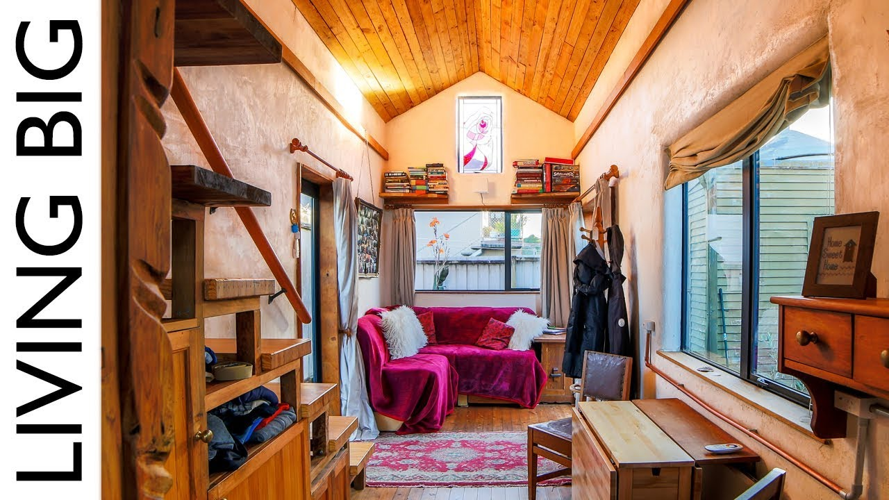 Beautiful Tiny Home Built To Look Like Earthen Cottage