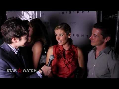 Brianna Brown and Kurt Anderson  at InSight prerelease party