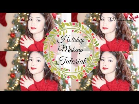 Trang Điểm Đơn Giản Cho Giáng Sinh  ♥ Simple Holiday Makeup Tutorial  ♥ mattalehang