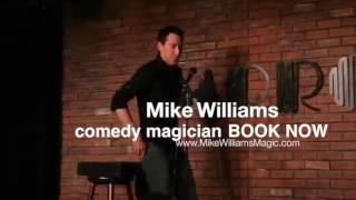 Mike Williams Comedy Magician Performs Celebrity Magic Trick