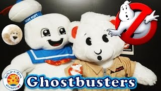 GHOSTBUSTERS Build a Bear GHOST BEAR Stay Puft Marshmallow Man & Slimer Plush Stuffed Movie Dolls