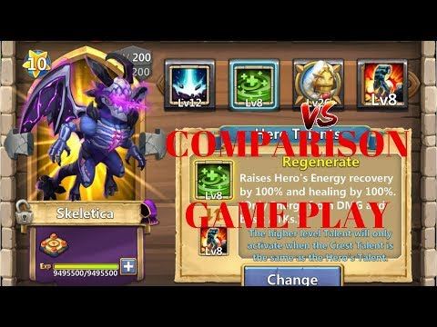 8/8 | Regenerate | VS | Stone Skin | Skeletica | Game Play | Castle Clash