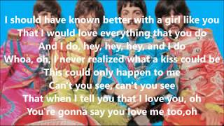 I should have known better with lyrics(The Beatles)